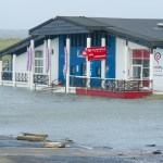 Flooding outside Seaworld, Lahinch. Photograph by John Kelly.