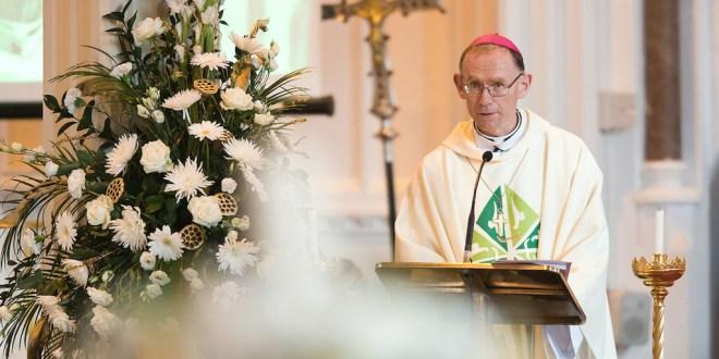 Bishop Monahan prays for road safety
