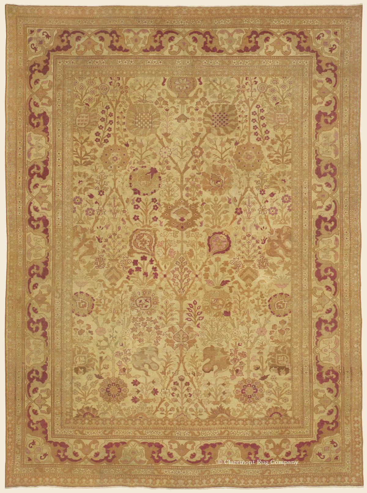 Amritsar Northern India Antique Rug Claremont Rug Company
