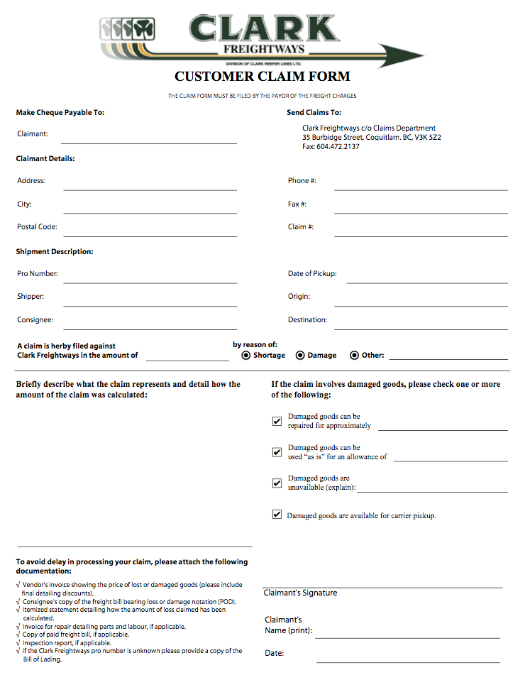 Download Application Forms Application Form For Citibank Clark Freightways Resource Library Clark Freightways