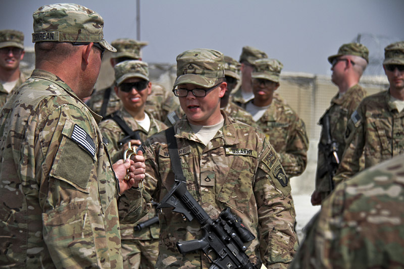Fort Campbell Currahee Cavalry Regiment receives Gold Spurs