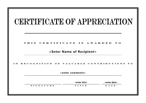 recognition certificate template - certificates of recognition templates