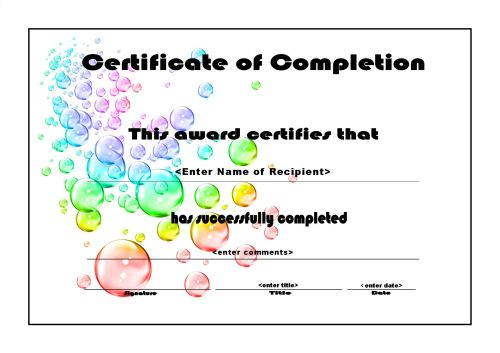 free templates for certificates of completion - Minimfagency - microsoft templates certificates