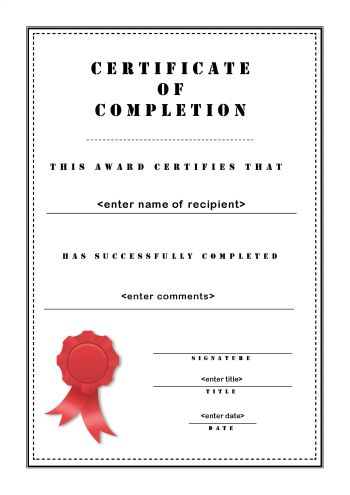 Free Certificate Template - printable certificate of attendance