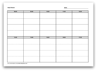 Selection Of Printable Daily Planner Formats
