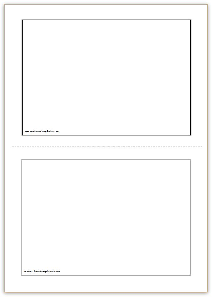 Free Printable Flash Cards Template