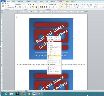 Make Flash Cards using MS Word