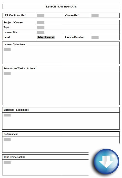 Free downloadable lesson plan format using Microsoft Word templates