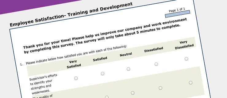 Solutions Overview Employee Satisfaction Surveys and Templates by