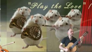 guitar and mice orchestra