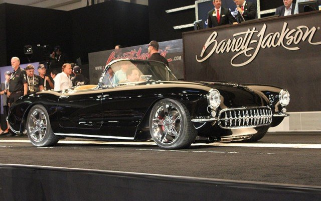 Classic Car Wallpaper 57 Chevy Barrett Jackson At 2014 Hot August Nights