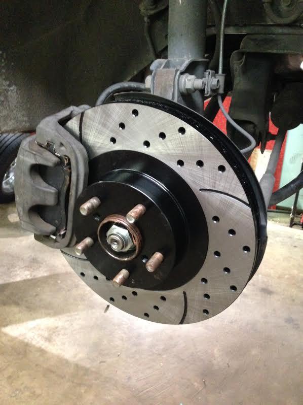 Subaru Baja brakes drilled and slotted rotors (gone wrong ...