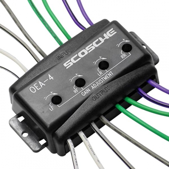 Scosche Amplifier Wiring Kit 4 Channel OEM Adapter OEA4