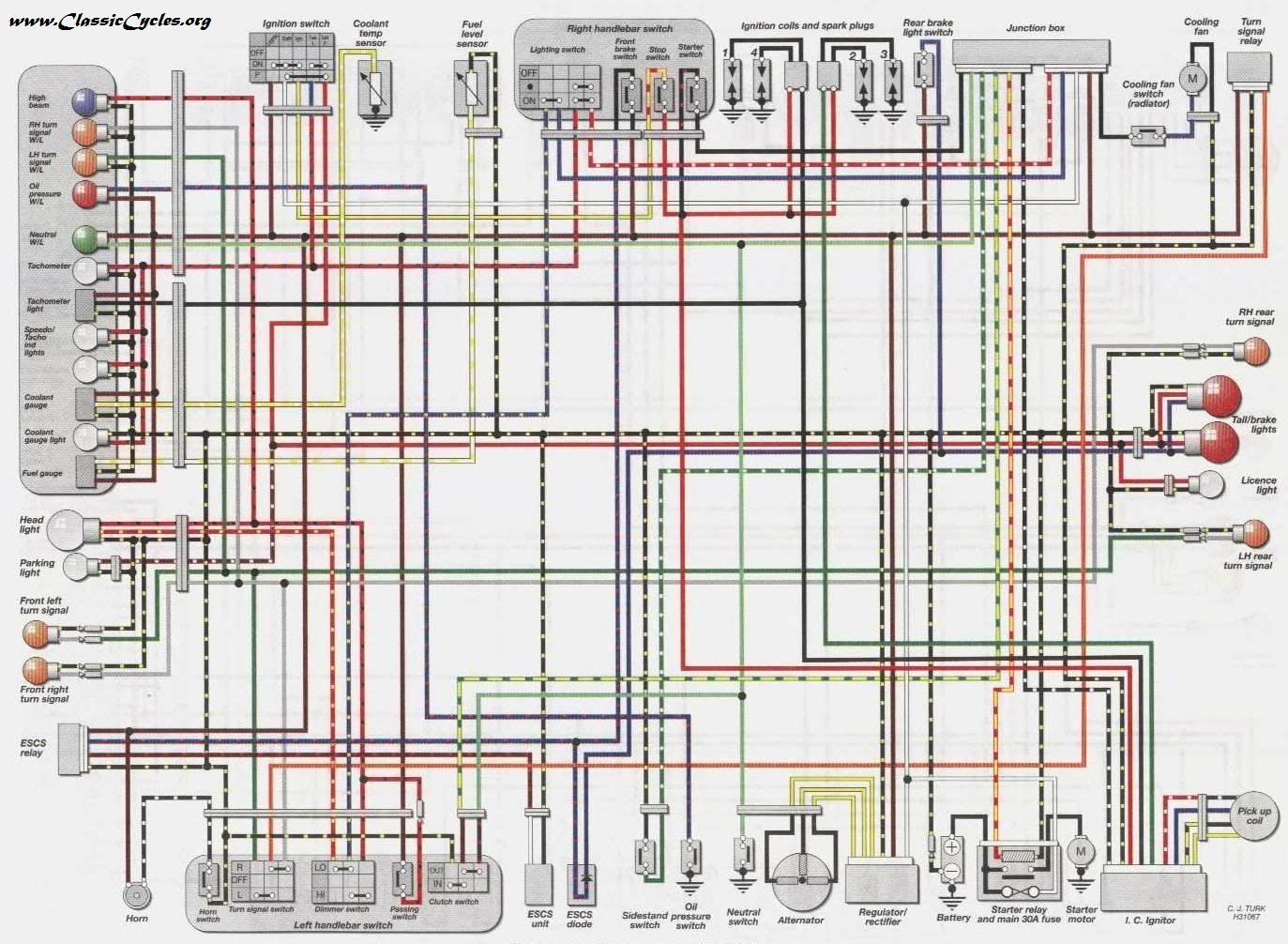 9145aa kawasaki gpz 400 wiring diagram | wiring resources  wiring resources