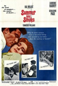 Movie poster for 1961's Summer and Smoke