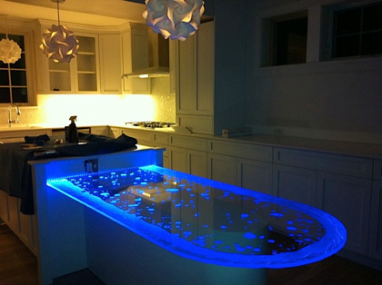 Carved Glass Table