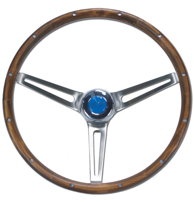 Steering Wheel-Bowtie-Wood-Classic Chevy Truck Parts