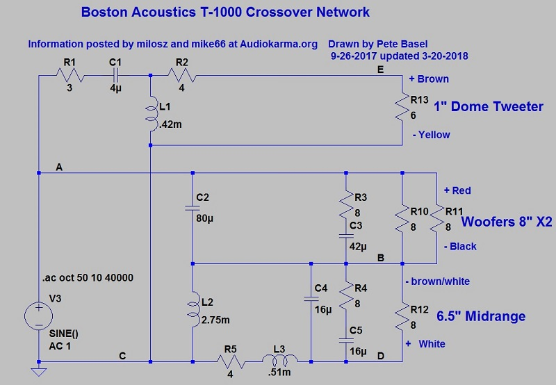 BA T1000\u0027s AND T1030\u0027s - Boston Acoustics - The Classic Speaker