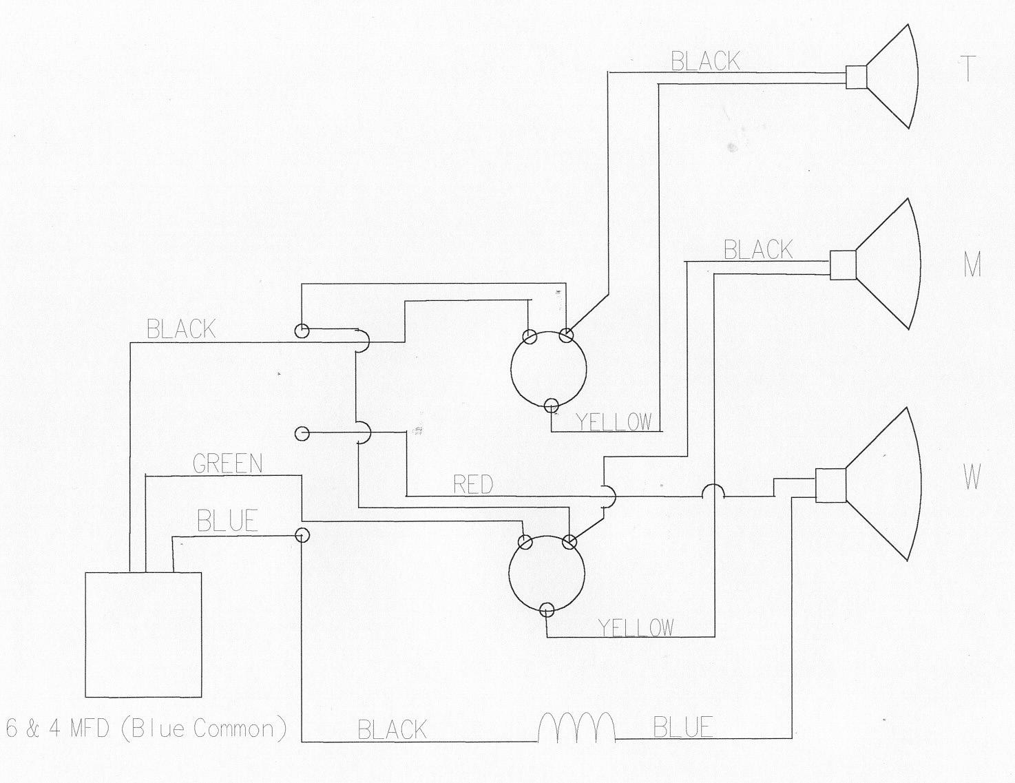 speaker crossover ledningsdiagram