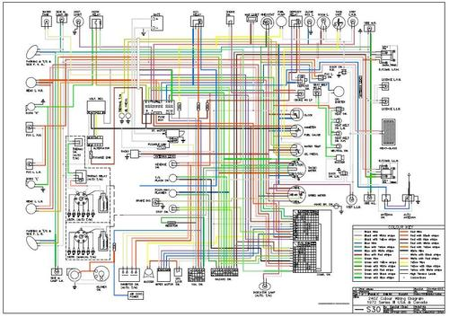 1977 Datsun 280z 11 X 17 Color Wiring Diagram Index listing of