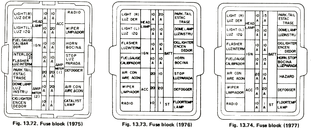 280zx fuse box
