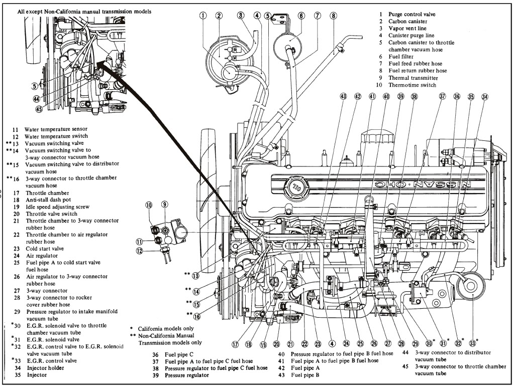 1983 datsun 280zx wiring harness