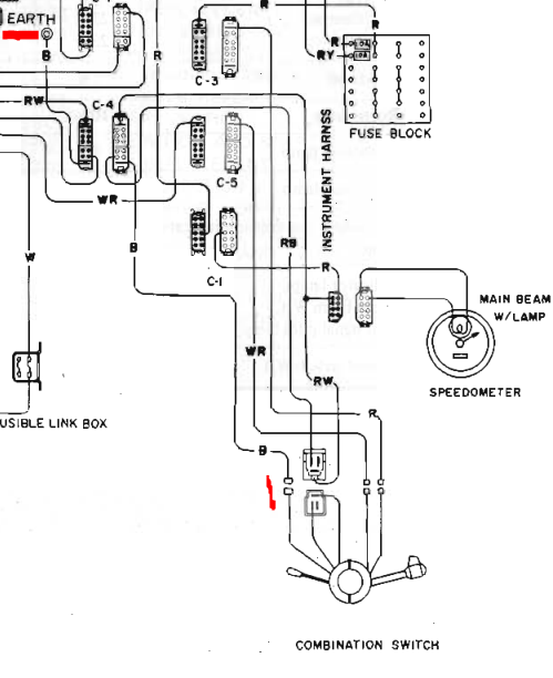 wiring diagram for the blinker light assembly
