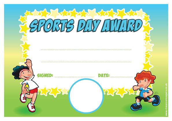 Personalised Certificates for Schools Sports Award for Sports Day