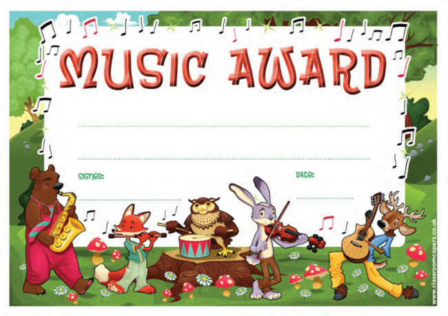 School Certificates Music Award -30 Cool Design Certificates for
