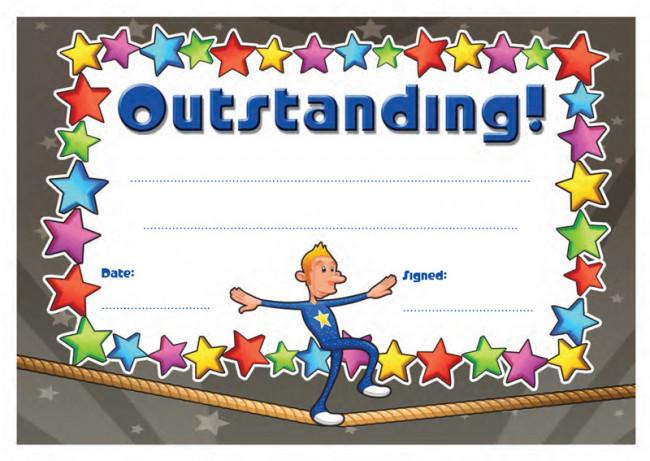 School Certificates Outstanding! 30 Cool Design Certificates for