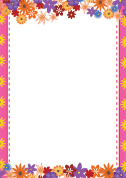 Cute Red Blue And Yellow Hd Graphic Flowers Wallpaper A4 Paper Snazzy Flower Design Computer And Writing Paper