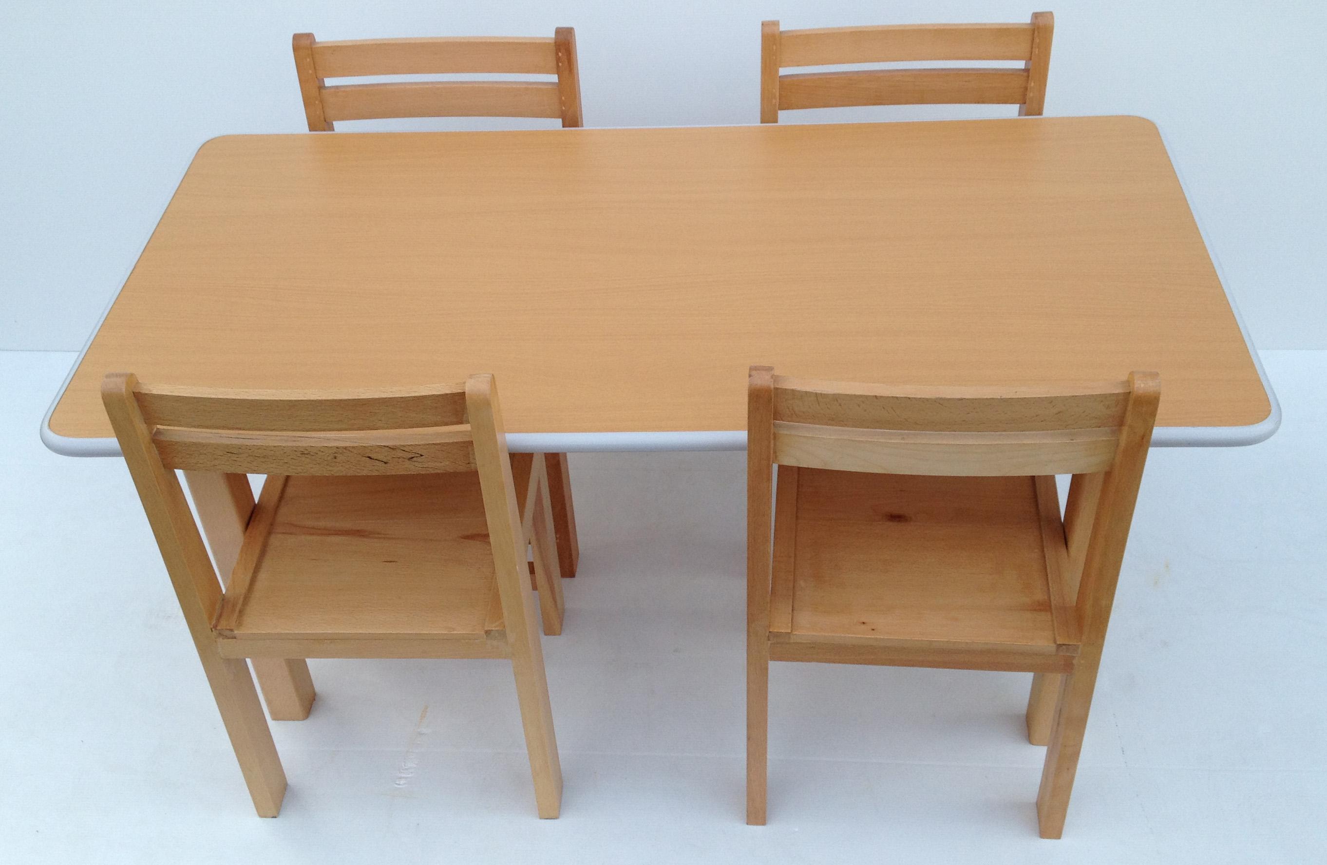 Pre School Kids Table Chairs Classroom Desk