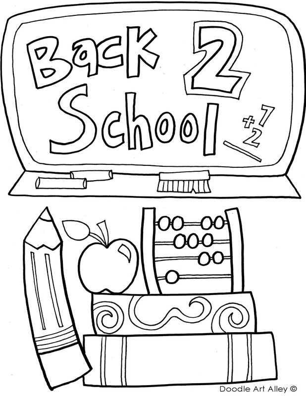Back to School Coloring Pages  Printables - Classroom Doodles