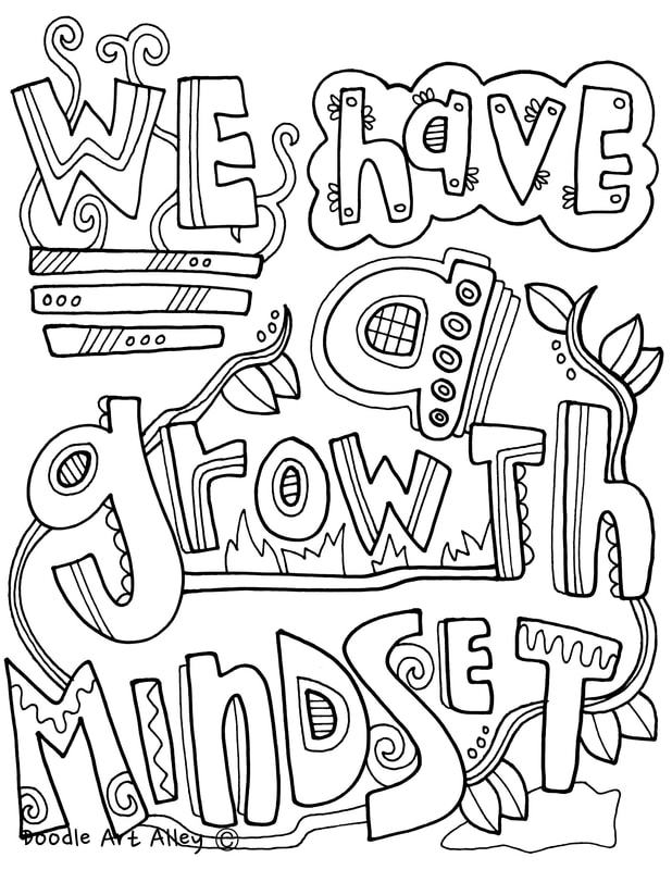 Growth Mindset Coloring Pages - Classroom Doodles