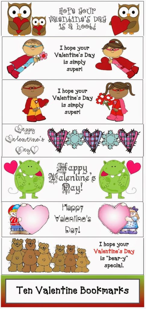 Friendship Printable Bookmarks for Valentine\u0027s Day! - Classroom Freebies