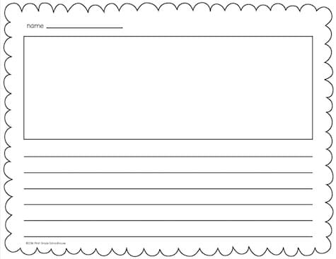 Lined Writing Paper - Classroom Freebies - lined pages for writing
