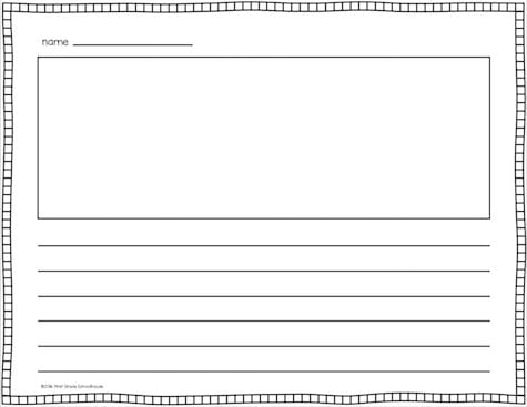 Lined Writing Paper - Classroom Freebies - lined border paper
