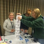Teachers engineering a tower in a workshop at the 2015 CSTA Conference.