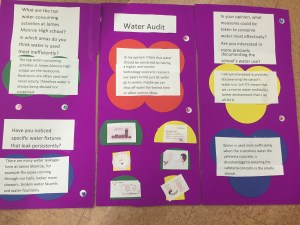 Figure 2: Student poster, which is intended to raise awareness of fellow students about water use and waste at their school; communicates student thinking.