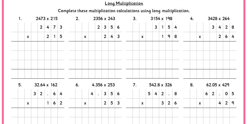 Long Multiplication Classroom Secrets