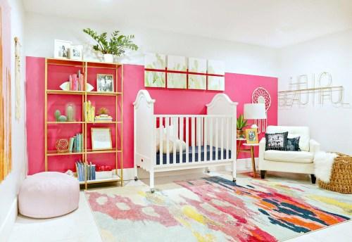 Medium Of Baby Girl Nursery