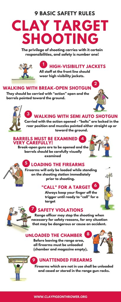 9 basic safety rules for clay target shooting