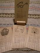 木テーブルカレンダー