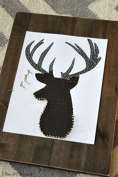 Deer Head String Art - Clean and Scentsible