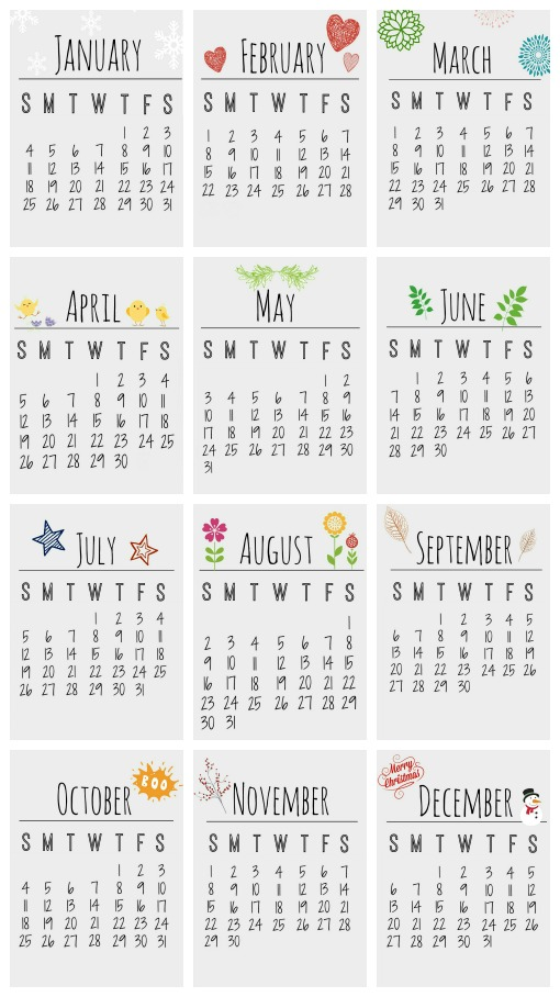 Free Printable 2015 Calendar - Clean and Scentsible