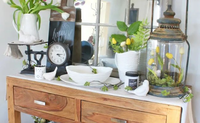 Quick And Easy Spring Decorating Ideas Clean And Scentsible