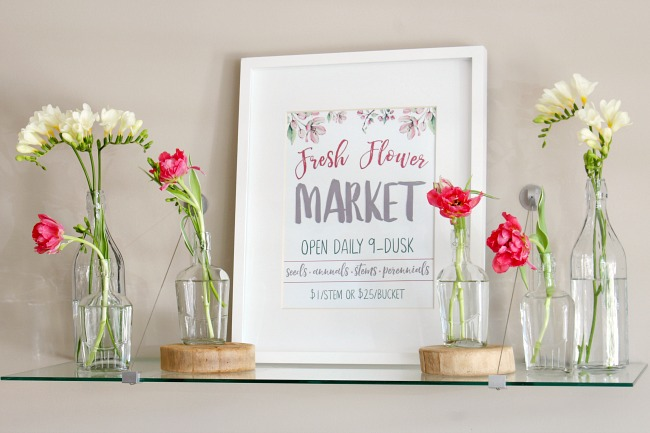 Fresh Flower Market Free Spring Printable - Clean and Scentsible
