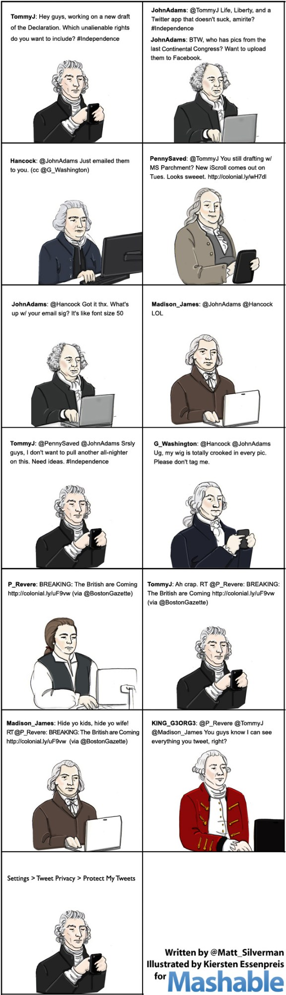Twitter Comic Founding Fathers