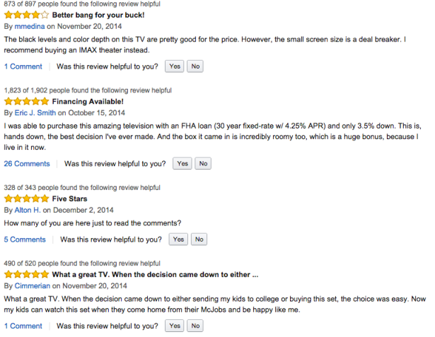 Amazon Reviews - Samsung HD TV