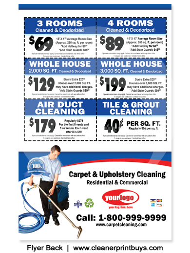 Sample Cleaning Flyers